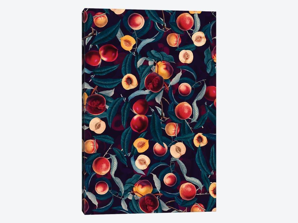 Nectarine And Leaf Pattern by Burcu Korkmazyurek 1-piece Canvas Artwork