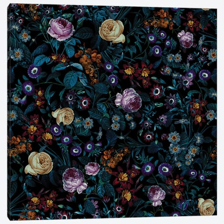 Night Garden XXXIII Canvas Print #BUR150} by Burcu Korkmazyurek Canvas Artwork