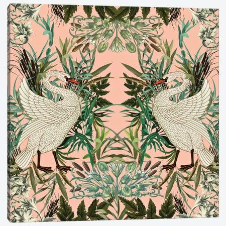 Romantic Swan Canvas Print #BUR156} by Burcu Korkmazyurek Art Print