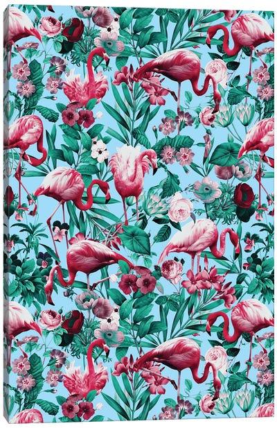 Spring Summer Floral Pattern Canvas Art Print