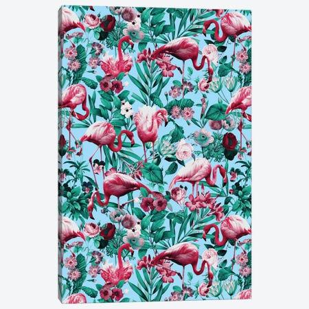 Spring Summer Floral Pattern Canvas Print #BUR157} by Burcu Korkmazyurek Art Print