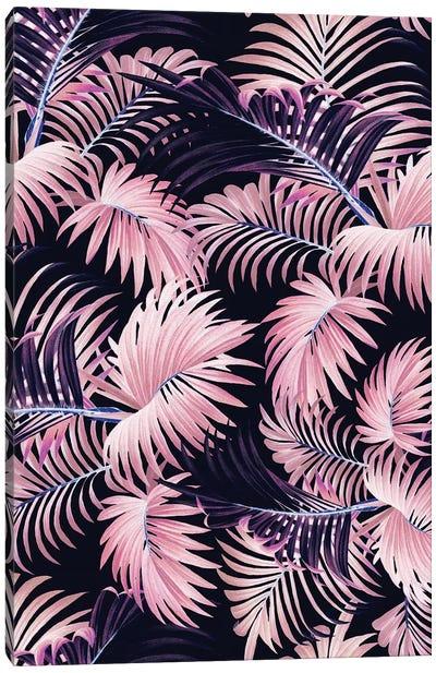 Tropical Jungle - Night Canvas Art Print