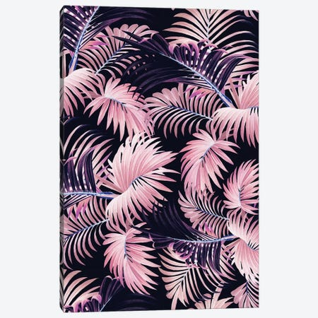 Tropical Jungle - Night Canvas Print #BUR167} by Burcu Korkmazyurek Canvas Artwork