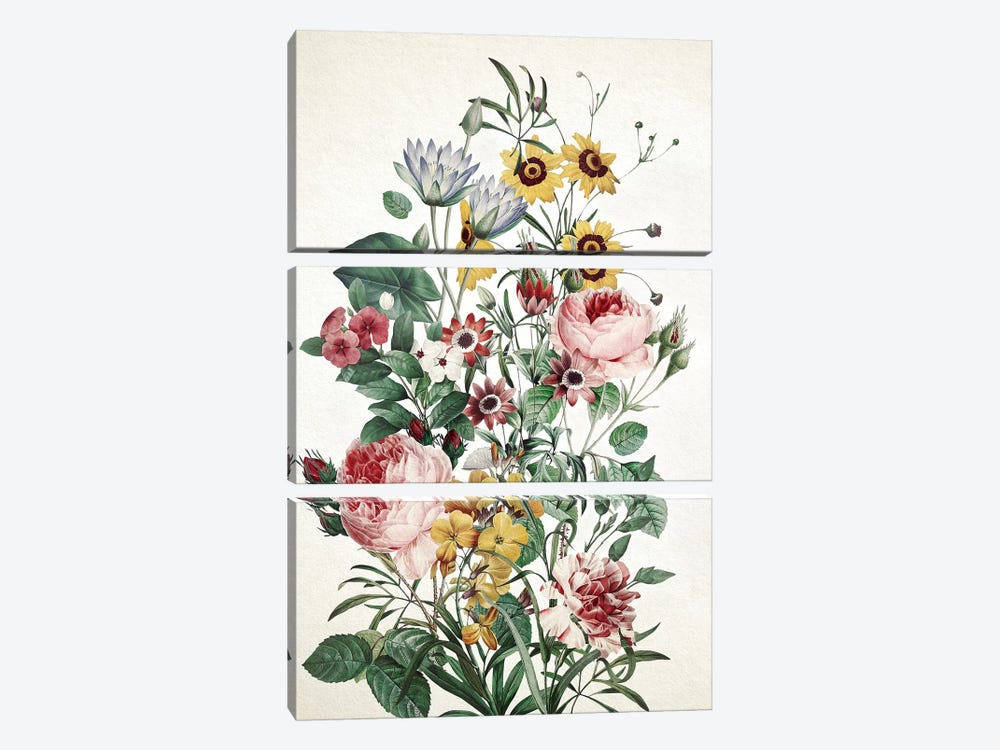 Big Flower by Burcu Korkmazyurek 3-piece Art Print