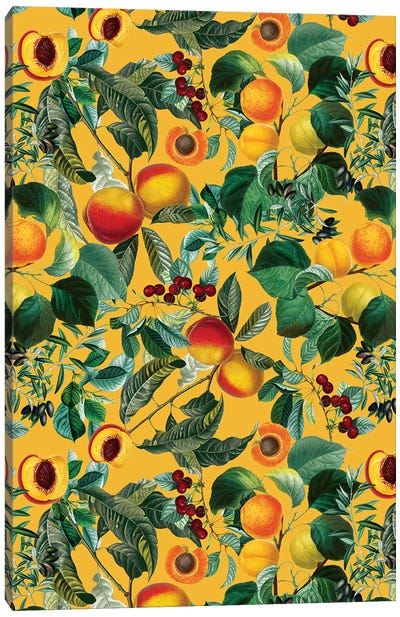 Floral And Fruit Pattern II Canvas Art Print