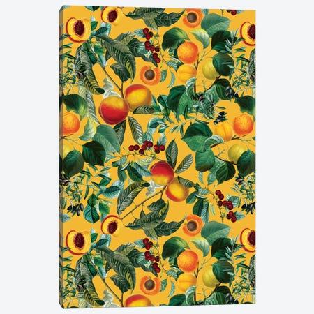 Floral And Fruit Pattern II Canvas Print #BUR181} by Burcu Korkmazyurek Art Print