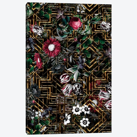 Gatsby And Floral Pattern Canvas Print #BUR182} by Burcu Korkmazyurek Canvas Print