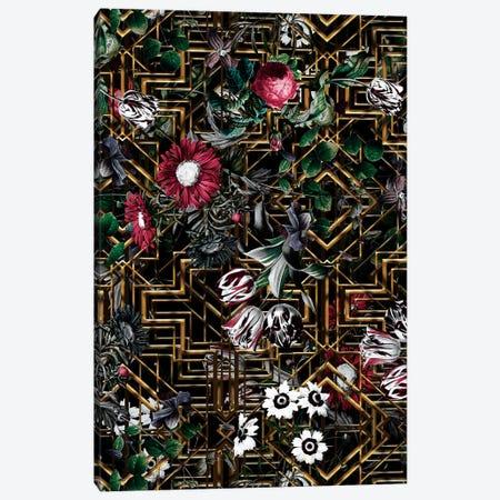 Gatsby And Floral Pattern Canvas Print #BUR182} by Burcu Korkmazyurek Canvas Print