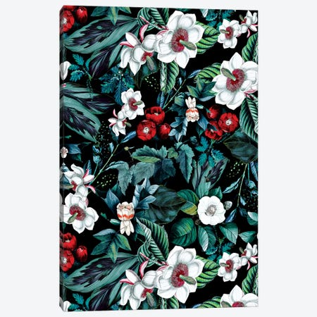 Midnight Garden V Canvas Print #BUR185} by Burcu Korkmazyurek Canvas Wall Art