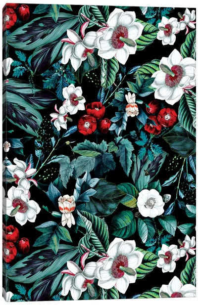 Midnight Garden V Canvas Art Print