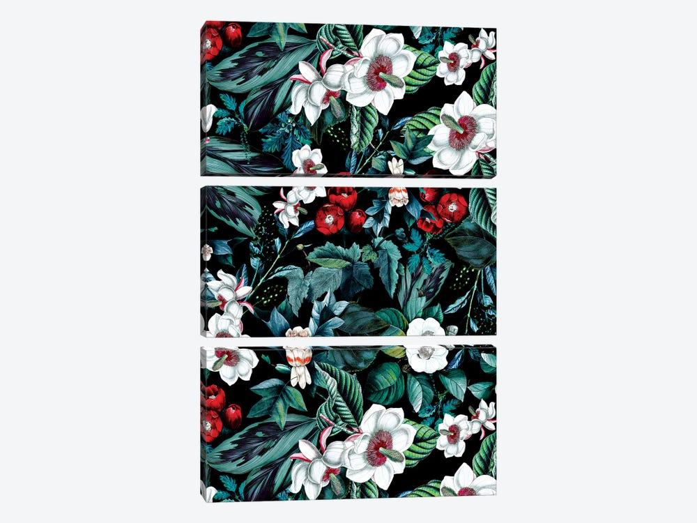 Midnight Garden V by Burcu Korkmazyurek 3-piece Canvas Art