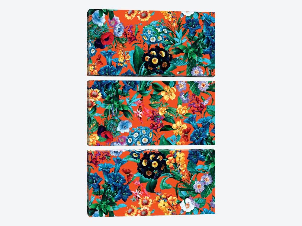 Romantic Garden VII by Burcu Korkmazyurek 3-piece Canvas Print