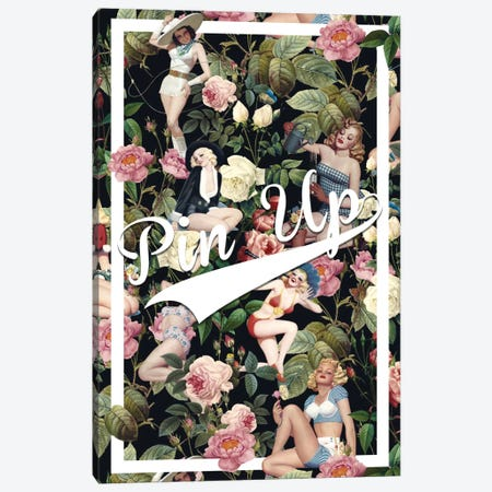 Floral And Pin-Up Canvas Print #BUR18} by Burcu Korkmazyurek Canvas Print