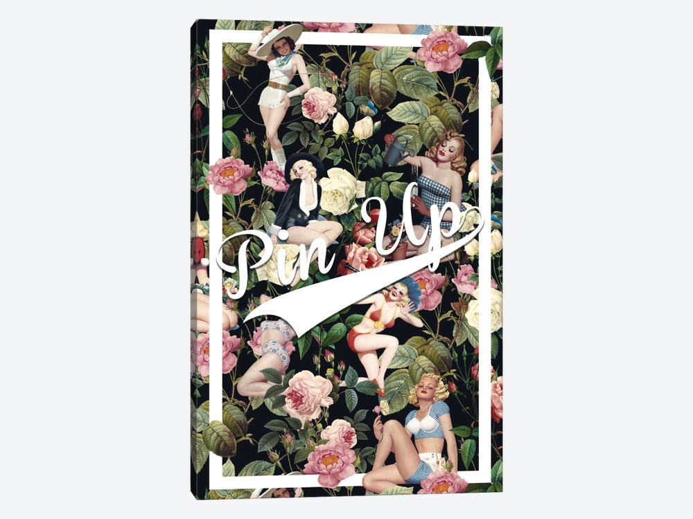 Floral And Pin-Up 1-piece Art Print