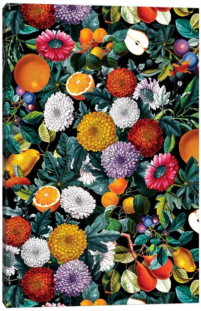 Vintage Fruit Pattern VIII Canvas Art Print