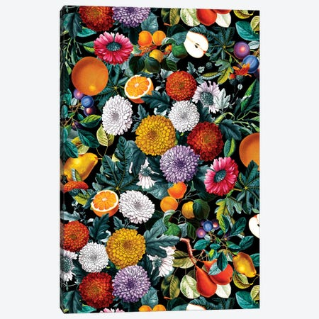 Vintage Fruit Pattern VIII Canvas Print #BUR196} by Burcu Korkmazyurek Canvas Print