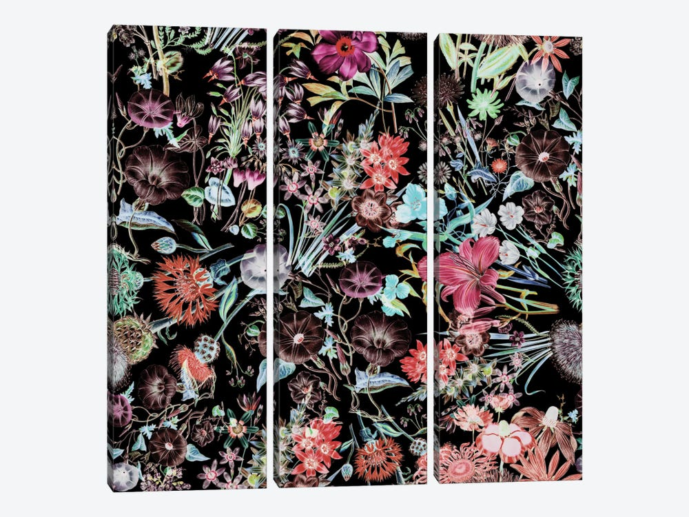 Floral Garden 3-piece Canvas Art