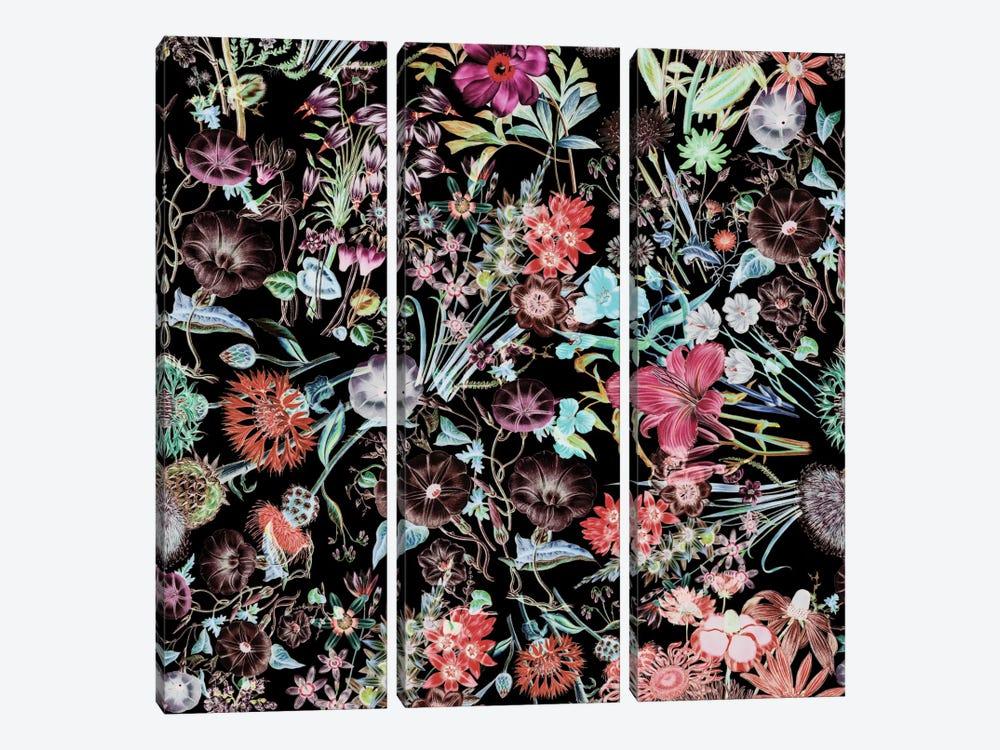 Floral Garden by Burcu Korkmazyurek 3-piece Canvas Art