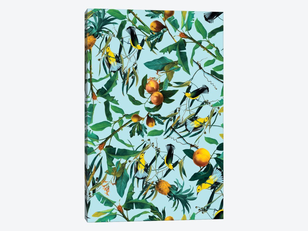 Fruit And Birds Pattern 1-piece Canvas Wall Art