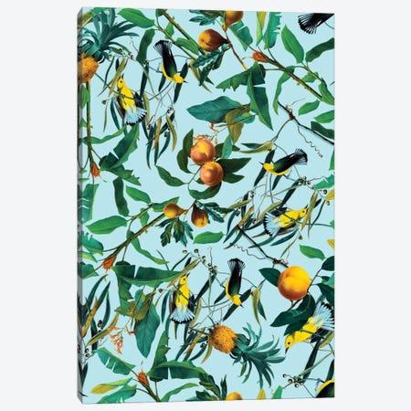 Fruit And Birds Pattern Canvas Print #BUR20} by Burcu Korkmazyurek Canvas Artwork