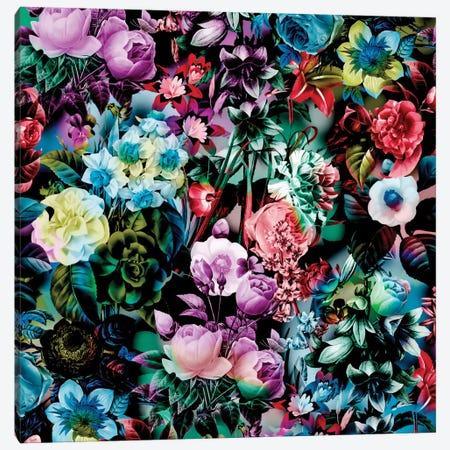 Multicolor Floral Pattern Canvas Print #BUR26} by Burcu Korkmazyurek Canvas Art Print