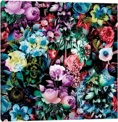 Multicolor Floral Pattern Canvas Art Print