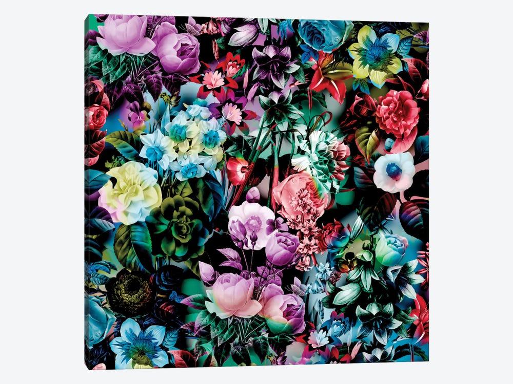 Multicolor Floral Pattern by Burcu Korkmazyurek 1-piece Canvas Art