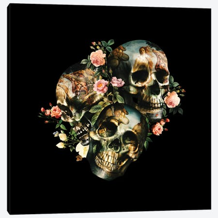 Skull & Venus Canvas Print #BUR33} by Burcu Korkmazyurek Canvas Art Print