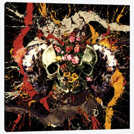 Skull I Canvas Print #BUR36} by Burcu Korkmazyurek Canvas Wall Art