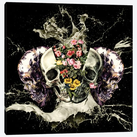 Skull II Canvas Print #BUR37} by Burcu Korkmazyurek Canvas Artwork
