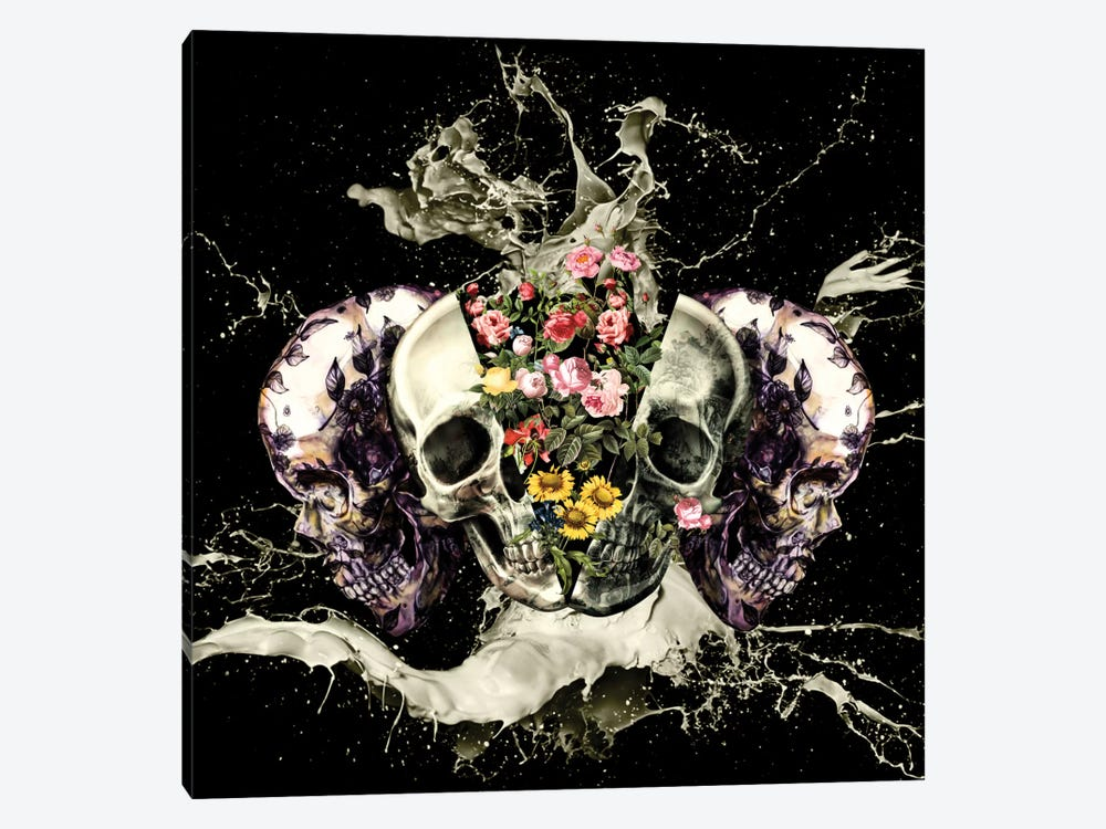 Skull II by Burcu Korkmazyurek 1-piece Canvas Wall Art