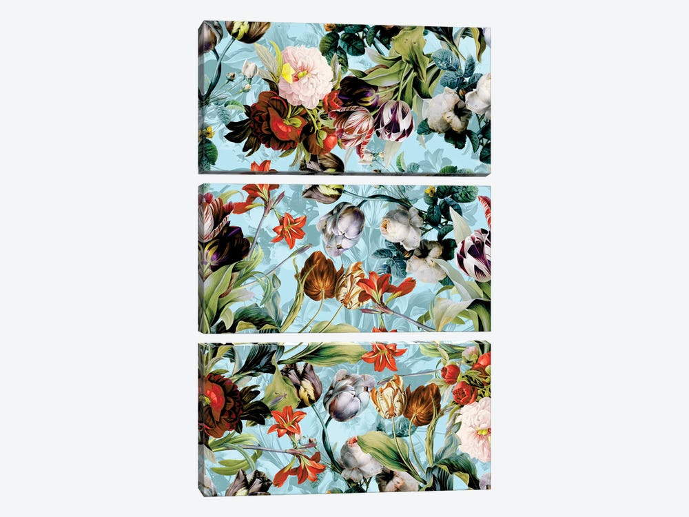 Summer Botanical VI by Burcu Korkmazyurek 3-piece Canvas Wall Art