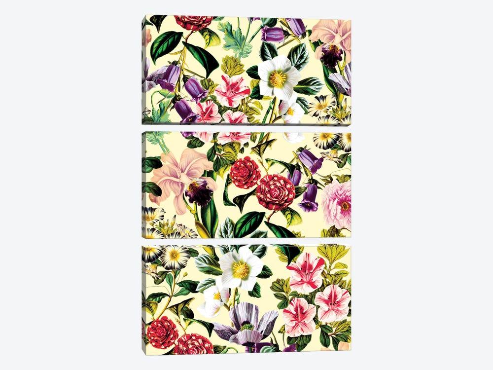 Summer Botanical X by Burcu Korkmazyurek 3-piece Art Print
