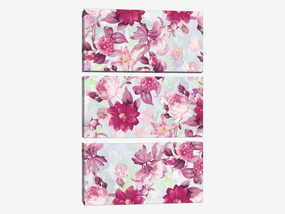 Botanical Garden by Burcu Korkmazyurek 3-piece Canvas Wall Art