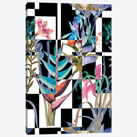 Floral Illusion Canvas Print #BUR57} by Burcu Korkmazyurek Canvas Artwork