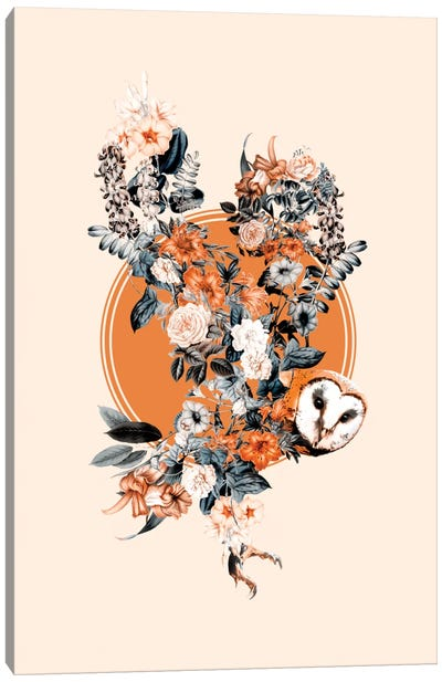 Floral Owl Canvas Art Print