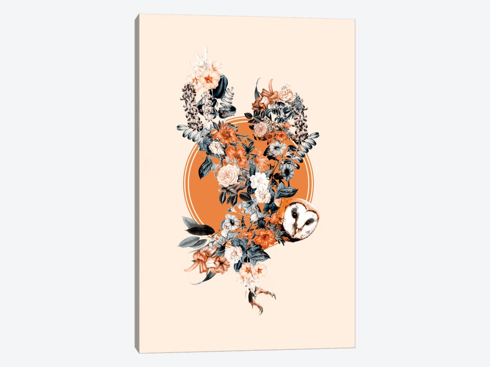 Floral Owl by Burcu Korkmazyurek 1-piece Canvas Art Print