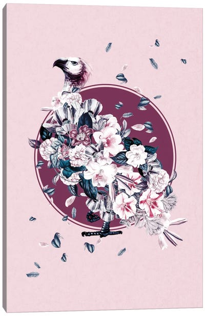 Floral Vulture Canvas Art Print