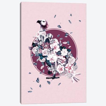 Floral Vulture Canvas Print #BUR59} by Burcu Korkmazyurek Canvas Art Print