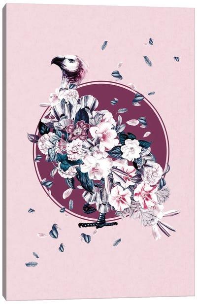 Floral Vulture Canvas Art Print