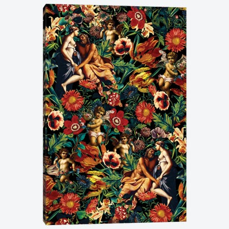 Hera & Zeus Garden Pattern Canvas Print #BUR61} by Burcu Korkmazyurek Canvas Artwork