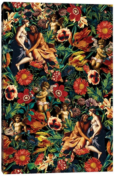 Hera & Zeus Garden Pattern Canvas Art Print