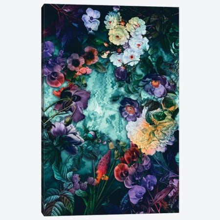 Hypnotic Florals Canvas Print #BUR62} by Burcu Korkmazyurek Canvas Wall Art
