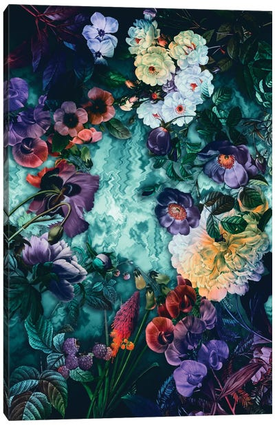 Hypnotic Florals Canvas Art Print