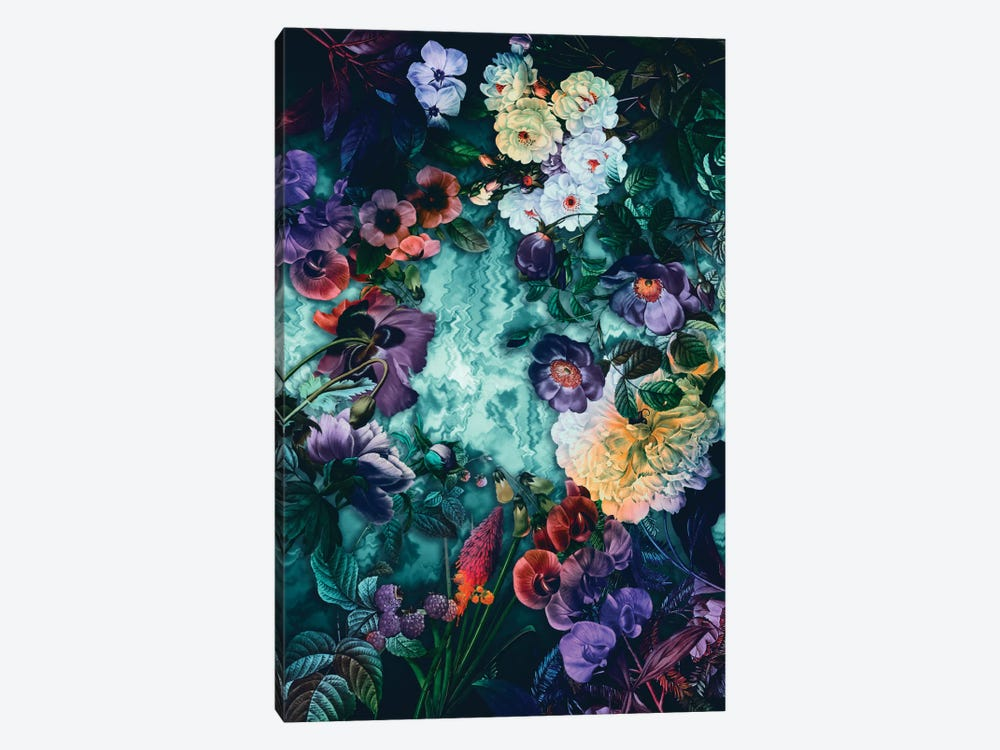 Hypnotic Florals by Burcu Korkmazyurek 1-piece Canvas Wall Art