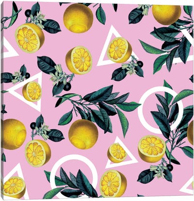 Lemon Classic Canvas Print #BUR63