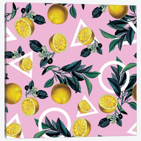 Lemon Classic Canvas Print #BUR63} by Burcu Korkmazyurek Canvas Wall Art