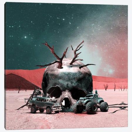 Skull Abode Canvas Print #BUR70} by Burcu Korkmazyurek Canvas Art Print