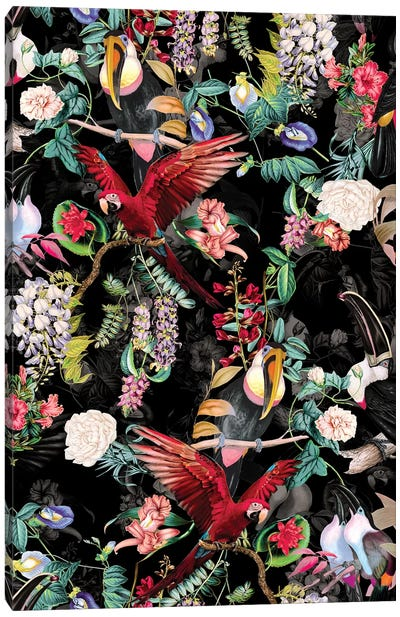 Floral And Birds IX Canvas Art Print