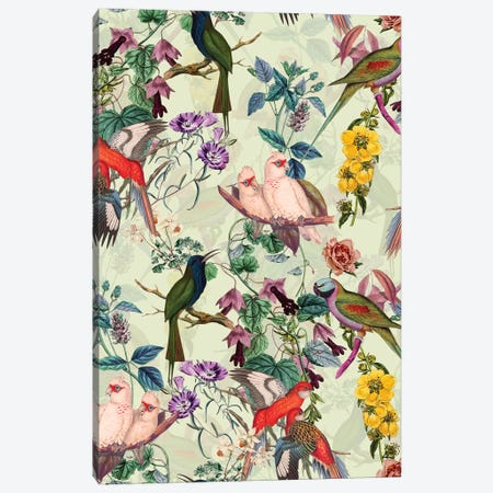 Floral And Birds VIII Canvas Print #BUR86} by Burcu Korkmazyurek Canvas Print